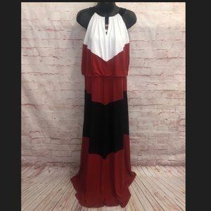 WHBM Color Block Maxi dress. Size XL